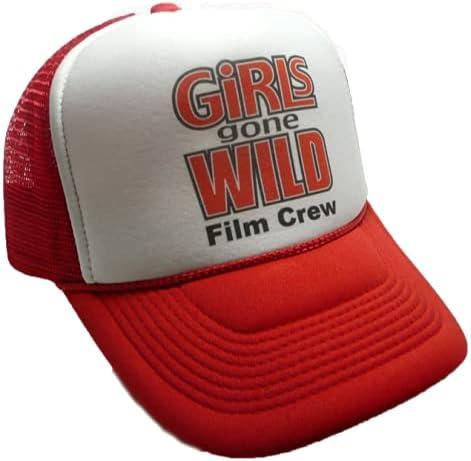 Girls Gone Wild Film Crew Trend Trucker hat Ships Next Day Cap Baseball Gift Vintage Embroidered Foam Mesh Back Smiley