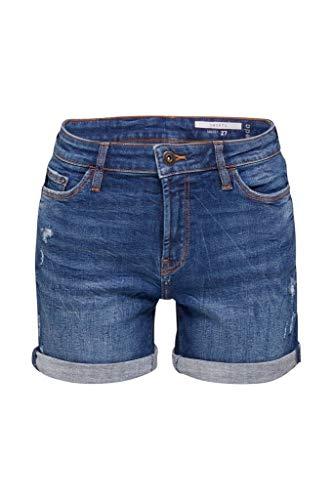 edc by ESPRIT Damen 990CC1C301 Shorts, 902/BLUE MEDIUM WASH, 31