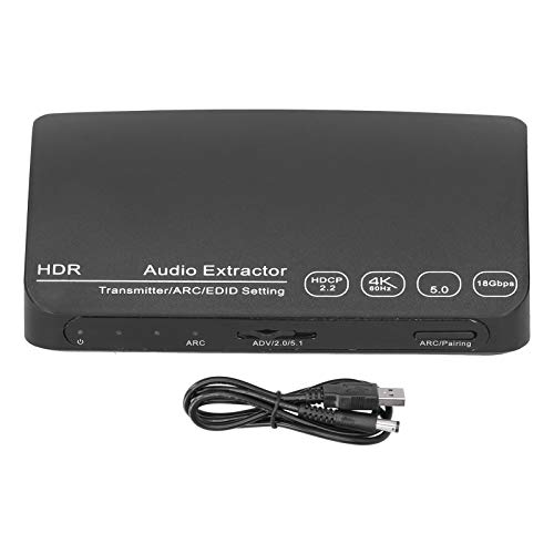 DAUERHAFT Video Audio Converter, HDCN0052M1 Bluetooth 5.0 4K & 60HZ Audio Extractor HD Video Audio Converter Splitter