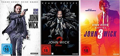 John Wick 1-3 Kapitel 1+2+3 / Teil 1+2+3 [DVD Set]