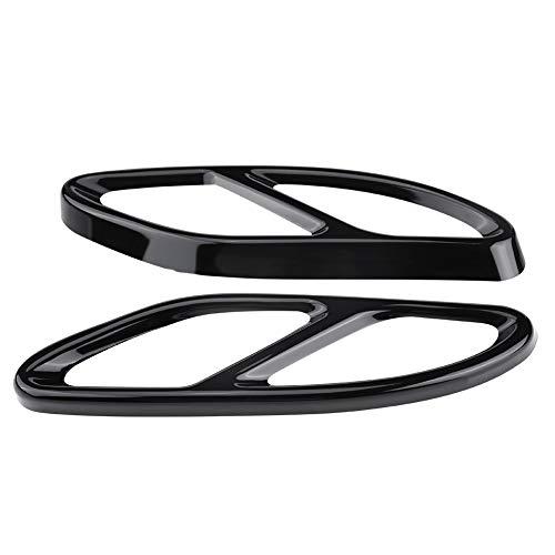 Nikou Auspuffblende - 1 Paar Auspuffblende Blende Silber für Mercedes Benz GLC C E-Klasse C207 Coupe 14-17 (Farbe : Black)