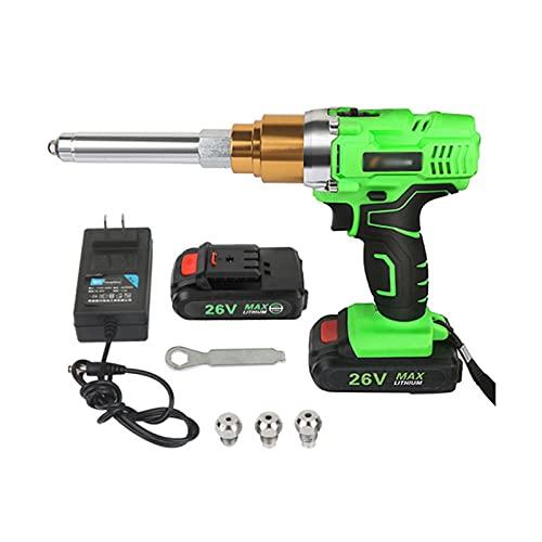Pistola Remachadora Inalámbrica De 26V, Kit De Herramientas Automático Para Remaches Ciegos Con 2 Baterías De Iones De Litio De 3.0Ah Y Cargador