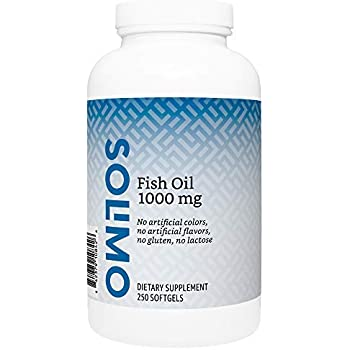 Amazon Brand - Solimo Fish Oil 1000 mg, 250 Softgels, Eight Month Supply, Omega 3 Fatty Acids