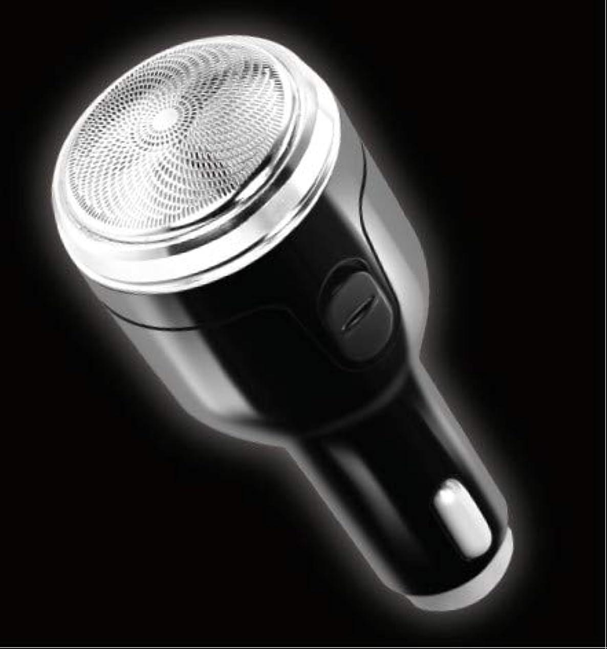 万一に備えてデンマーク薄めるシガーソケット充電式シェーバー 髭剃り USBポート付き 12V-24V車対応 レジャー ドライブ アウトドア