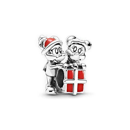 LaMenars Disney Charms per braccialetti Pandora per donna 925 Sterling Silver ciondola ciondolo con perline Regali per donna Collana braccialetto ragazza (F-Mickey e Minnie presenti)