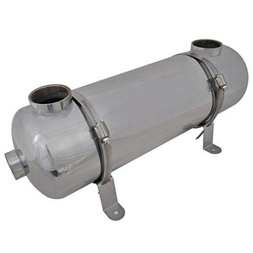vidaXL Intercambiador Calor Calentador Piscina 60 kW Calefactor Agua Jacuzzi