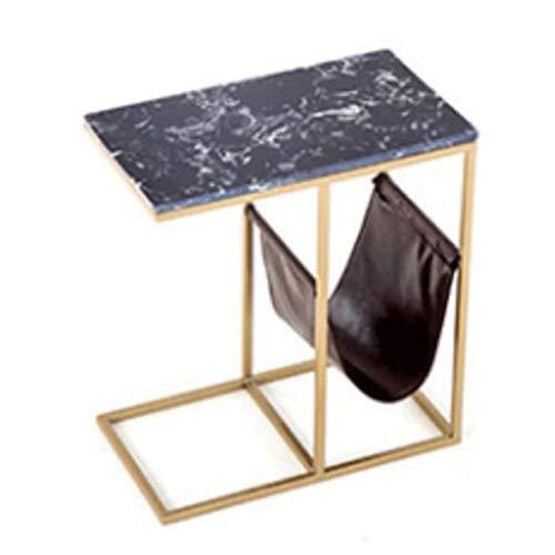 ZYMING Mesa de Centro pequeña Mesa de café de Hierro Mesas de la Mesa de mármol Simplicidad Sofá Mesa Auxiliar para Sala de Estar Sala de recepción y balcón Decoración para el hogar mesitas