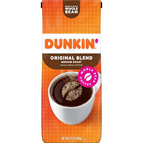 Dunkin Donuts Original Blend Whole Bean Medium Roast Coffee 340g (Dunkin Donuts Original Mischung ganze Bohne Medium Röstkaffee)