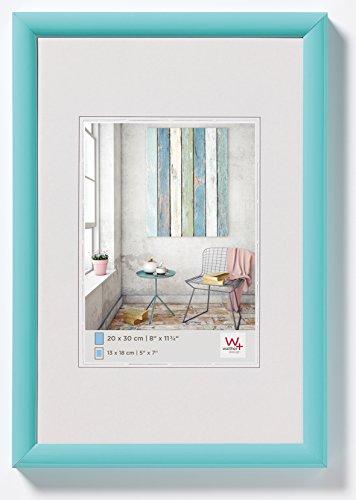 walther design KP520U Trendstyle, marco di plástico, pack de 1, 15x20 cm, turquesa