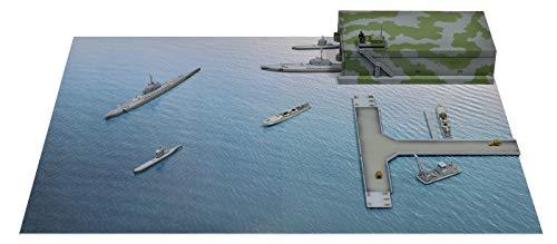 ピットロード 1/700 SPSシリーズ 第二次世界大戦 ドイツ海軍 Uボート・Sボート出撃基地 海面情景ペーパーベ...