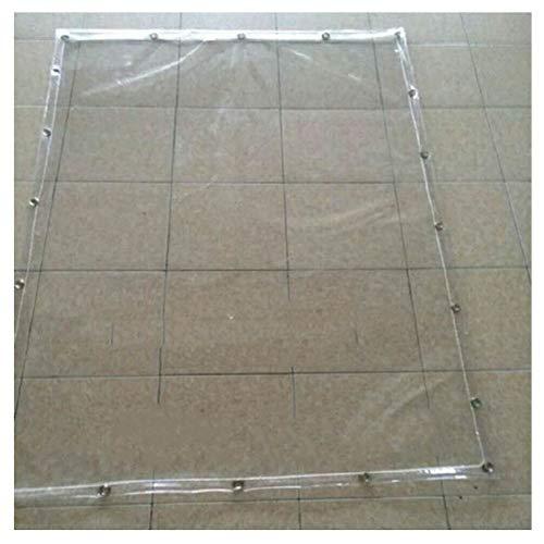 PENGFEI Bâche De Protection Transparente Épaissir Bâche Balcon Coupe-vent Résistant Au Froid PVC, 600 G/㎡, Plusieurs Tailles (Couleur : Transparent, taille : 2x4m)