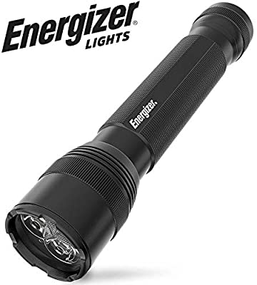 Energizer LED Tactical Flashlight, Super Bright High Lumens, Use for Hurricane Supplies, Survival Kit, Camping Accessories, Ultra-Durable and Water Resistant LED Flashlights, Black, 12.48