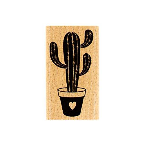 florilèges Design fd216032Stempel Kaktus D 'Amour Holz 7x 4x 2,5cm