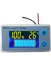 Voltímetro Multifunción Del Medidor De Capacidad De La Batería LCD Con Pantalla De Temperatura