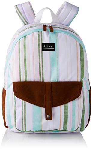 Roxy Carribean-Backpack, Mujer, BRIGHT WHITE KAMUELA STRIPE S, One Size