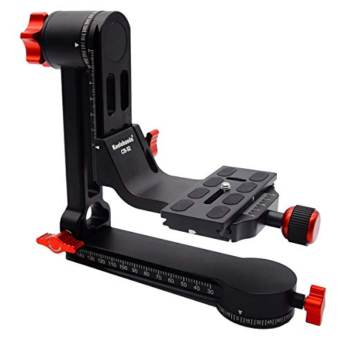 koolehaoda Gimbal Tripod Head 360° Panoramic Head with 100mm Quick Release Plate Carry Bag (CB-52 Panoramic Head)