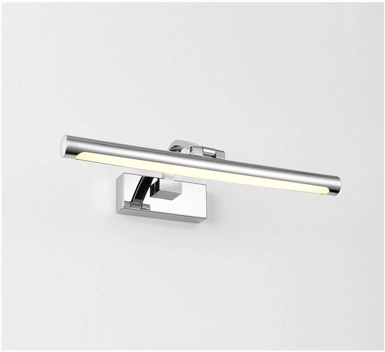 HN Lighting LED-Spiegel-Scheinwerfer, modernes minimalistisches Badezimmer-Spiegel-Kabinett-Lampen-Badezimmer-Edelstahl-wasserdichte Spiegel-Scheinwerfer (Farbe   Warmes licht, gre   42cm)