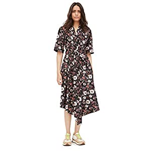 Adam Lippes Women's Asymmetrical Dress in Printed Poplin