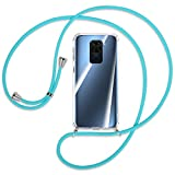 mtb more energy® Collier pour Xiaomi Redmi Note 9, Redmi 10X 4G (6.53'') - Turquoise - Coque pour...