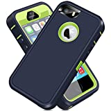 iPhone 5S Case, iPhone SE 2016 Case, ACAGET iPhone 5 Case Heavy Duty Protective Armor Shock-Absorbing Dual Layer Rubber TPU + PC Cover Non-Slip Bumper Phone Cases for iPhone 5S/SE/5 Dark Blue/Green