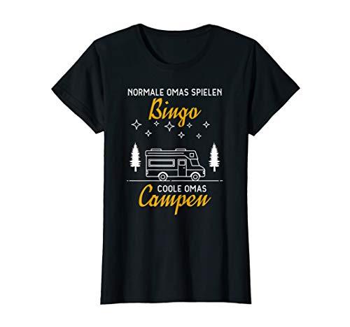 Damen Normale Omas Spielen Bingo Coole Omas Campen Camper T-Shirt