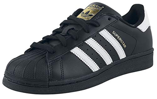 adidas Originals Superstar B27140, Unisex-Erwachsene Low-Top Sneaker, Schwarz (Core Black/FTWR White/Core Black), EU 38