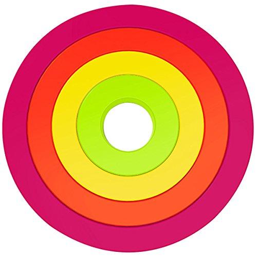 Zak Designs 2073-900 Set de 4 Dessous de Plat Circulaire Emboîtable