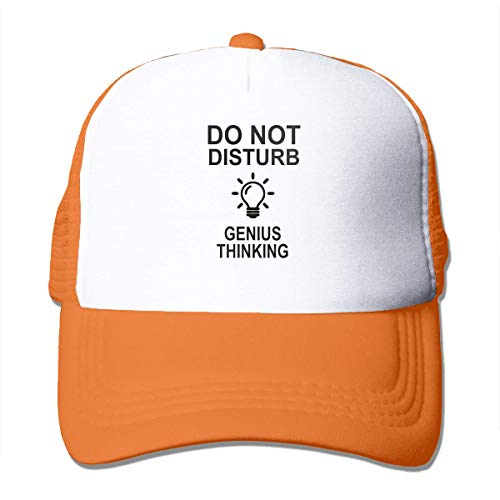 Preisvergleich Produktbild AOHOT Herren Damen Baseball Caps, Hüte,  Mützen,  Classic Baseball Cap,  Mesh Sports Baseball Caps Do Not Disturb Genius Thinking Adjustable Trucker Sun Hats for Running Outdoor