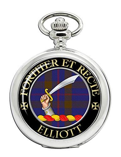 Elliott Scottish Clan Crest Full Hunter Pocket Watch