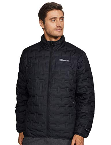 Columbia Men's Delta Ridge Down Winter Jacket, Insulated, Water repellent, Medium, Black