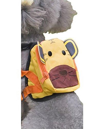 Dessin animé Chien pour animal domestique Chien extérieur Sac à dos de voyage épaules Sac à dos -- Tigre
