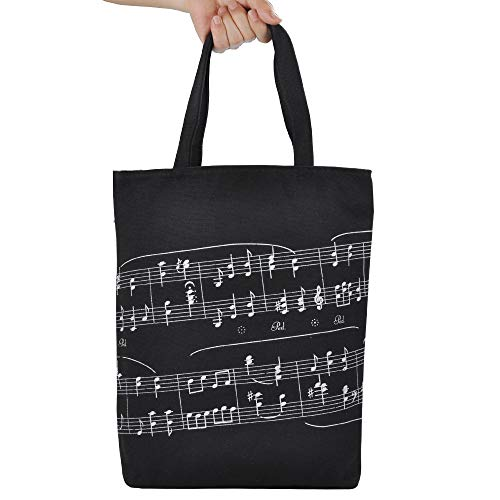 Reusable Grocery Bags,Music bag,Canvas Tote Bag Perfect for Shopping,Laptop,School Books (Musical Notation Tote Bag)