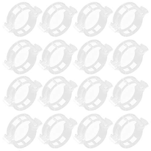 BESLIME 200 pcs Weiß Pflanzenclips, Pflanzenclips für Tomaten wiederverwendbar Plastik Pflanzenclips für Garten Gewächshaus