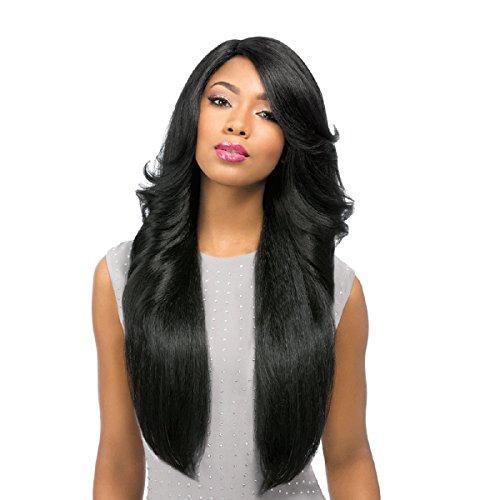 Sensationnel Elegante Kunsthaar Perücke Empress Lace Front Wig PERM WEDGE Custom Wig, Farbe:2 (Dunkelbraun)