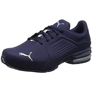 41hNCzPBwSL. SS300  - PUMA Viz Runner Herren Low Boot Sneaker Sportschuhe Peacoat-Grau