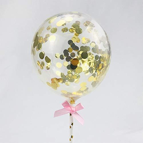 Kuchen Topper Herzförmige Pailletten Ballons Konfetti Luftballons, Luftballons Tortendekoration Dekorieren Cupcake Topper für Party Kuchen Dekoration Hochzeit Geburtstag Deko