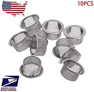 GLASSIXXX Elbow Pack Crystal 10 Pcs Screen Filter Rimmed Dome Compatible Arizer Milaana Splinter 18mm 19mm 19/22 Aromatherapy Filters