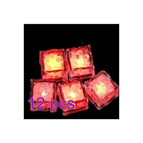 Portaghiaccio 12pcs colorato cubetti di ghiaccio incandescente decorazione del vetro del bicchiere di vino LED fluorescent block lampeggiante lampada da incasso lampada per la festa di nozze Raffredda