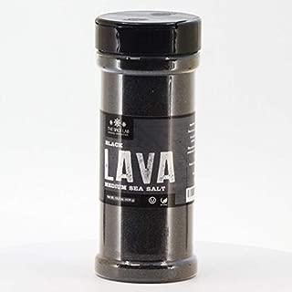 The Spice Lab Black Salt - Real Hawaiian Black Lava Salt - Medium 15.5oz Shaker- OU Kosher Gluten-Free Non-GMO Gourmet Salt - Authentic Hawaiian Black Salt - Excellent Halloween Margarita Salt 4013