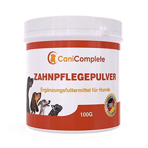 CaniComplete Hund Zahnpflege & Zahnsteinentferner - Bekämpft wirksam Mundgeruch und reinigt sowohl Zähne, als auch Zahnfleisch. Spezielles Pulver zur Hunde Zahnpflege