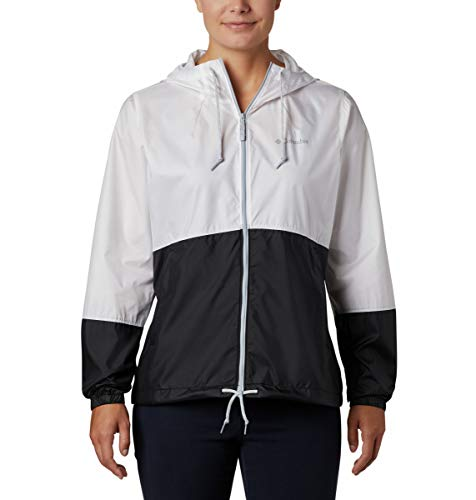 Columbia Flash Forward, Chaqueta cortavientos, Mujer, Blanco/Negro (White/Black), L