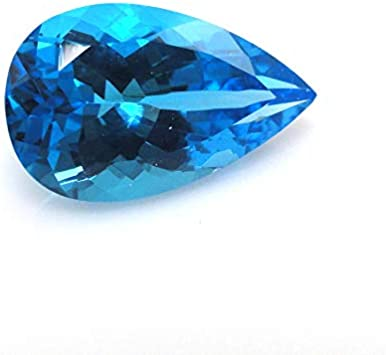 Designer Natural Blue Opal Pear Shape 29 Ct High Quality  Blue Opal Perfect Pendant Size Loose Gemstone Opal MM Size 30x26x6