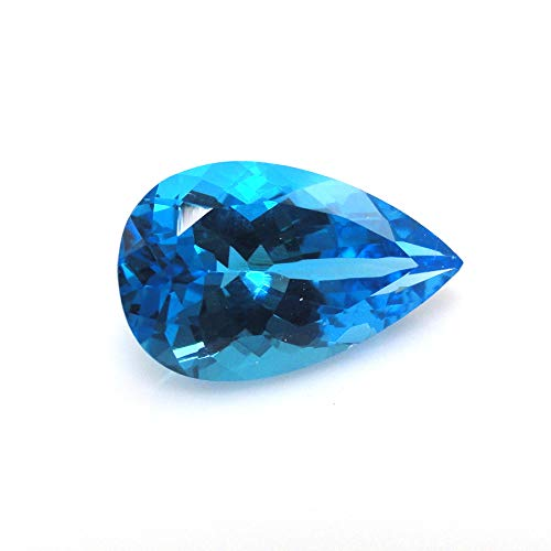 Neerupam Collezione Topazio Blu Svizzero Naturale qualità AAA 9x6 mm Pietra preziosa a Goccia, Gemma Sciolto Naturale Topazio Blu Svizzero per Fare Gioielli