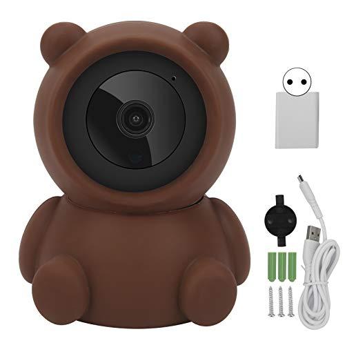 1080P WiFi Pan/Tilt Cámara Brown Bear Styling Night Camera Night Home Intercomunicador bidireccional Múltiples métodos de almacenamiento(Transl)