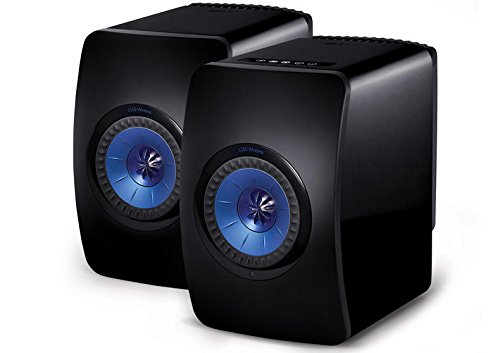 KEF LS50 Wireless (Gloss Black/Blue)