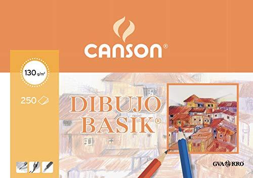 Canson Dibujo Basik Cajetín, Paquete A4, 250 Hojas 130g