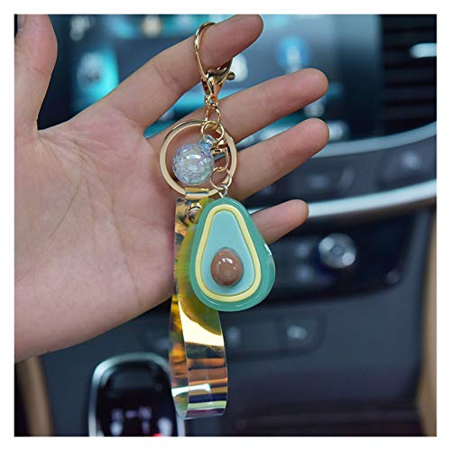 Jfsmgs Couple Keychains Cute Animal Doll Keychain Cartoon Avocado Glow Keyrings for Women Bag Charms Car Key Pendant Decoration (Color : ZZ 02)