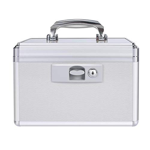 MerSun Empty Medicine Lock Box First Aid Box with Child Safety Lock Storage Box with Keys for Family Medicine