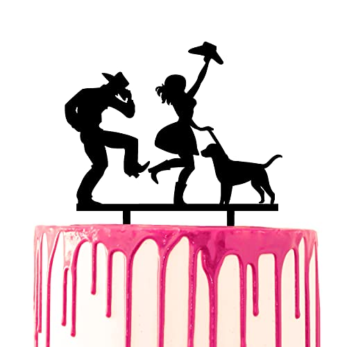 CARISPIBET adorno de pastel de boda novio y novia bailando rodeo con...