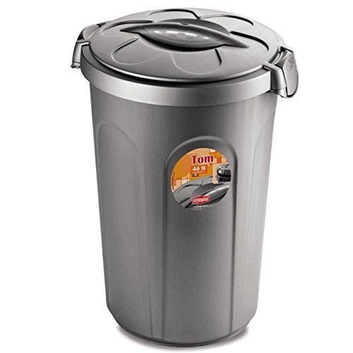 Mülltonne Tom 46 Liter, robuste Verarbeitung mit verschließbarem Deckel: Mülleimer Müllbehälter Mülltrennung Papierkorb Tonne